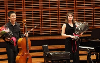 Taking a bow at the Australian Cello Awards competition