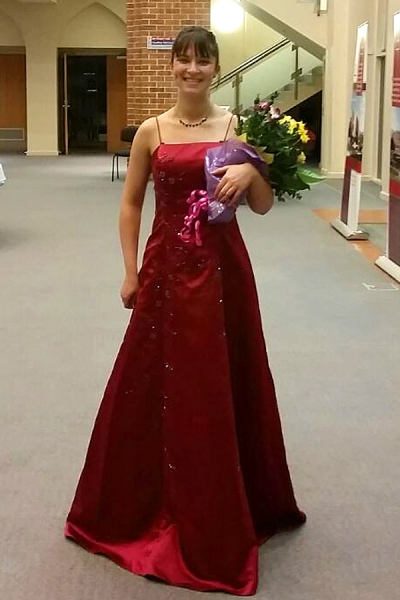 Stunning concert dress and flowers after the concert