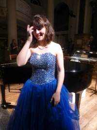 Yasmin takes a well-deserved bow after a concert