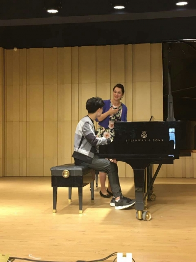 Yasmin during her masterclass sessions in China