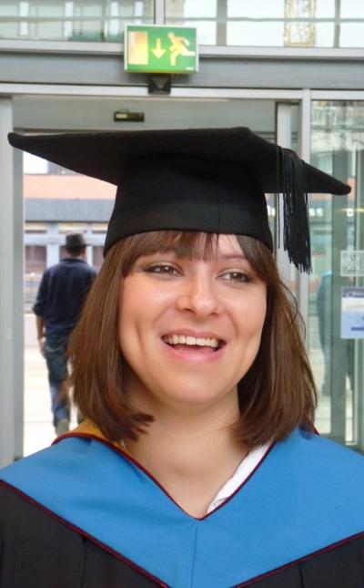 Yasmin at her BMus degree graduation, Manchester
