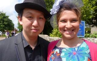 Yelian and Yasmin wear hats - probably to a wedding?