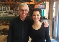 Yasmin with conductor Mark Hartt-Palmer after Schumann concert