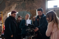 CMF video shoot - the team taking a look at the opening footage