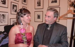 Yasmin with Sasha Levtov of the Regis School of Music, at Wigmore Hall